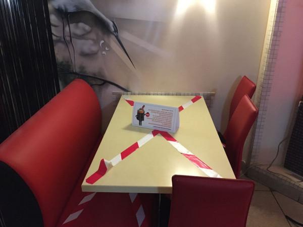 Часть столов постигли ограничения